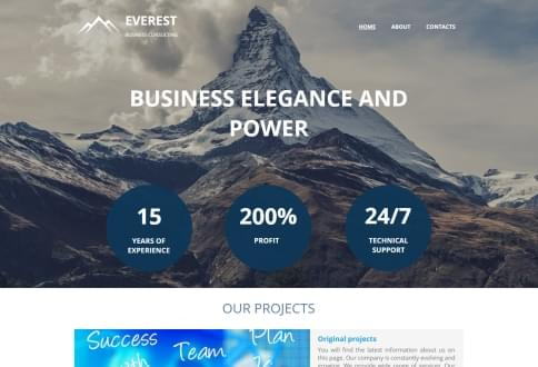 Website builder with hundreds of free website templates.